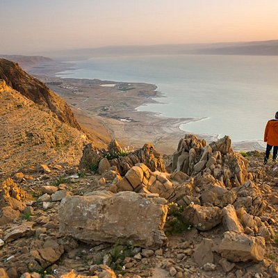 Standing at the Dead Sea observation point