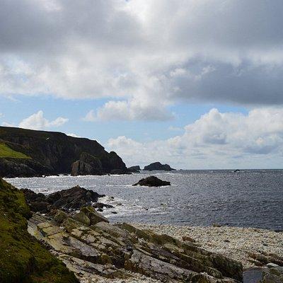 Stranden ved port med kigget mod syd
