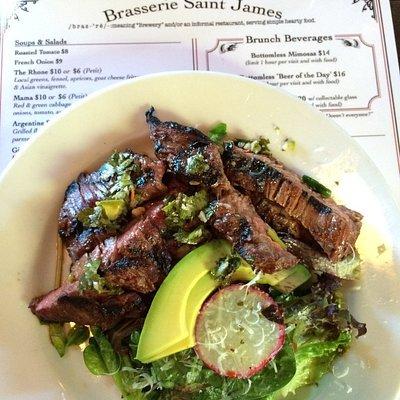 Steak salad from Brasserie Saint James