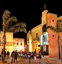 L'ingresso al centro storico di Maruggio con la Torre dell'Orologio