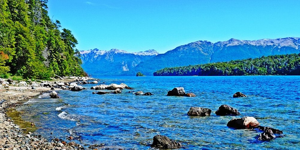 Lago Nahuel Huapi - Ribera del Hotel Melewe y alrededores