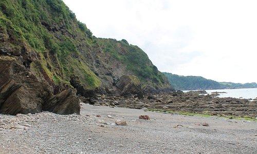 View along the shore line