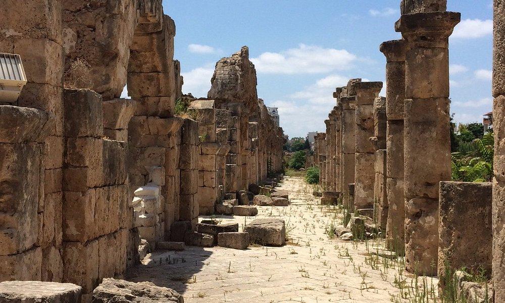 Roman arcade and aqueduct base