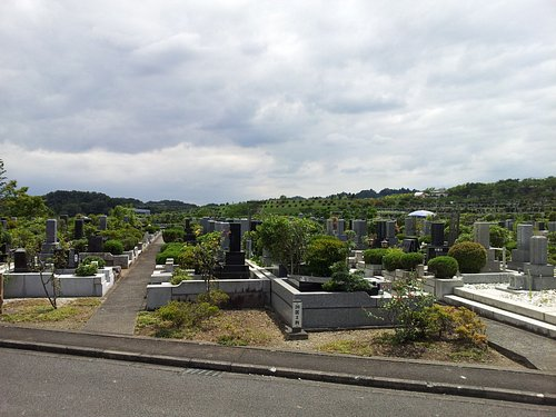 緑多い墓所の様子