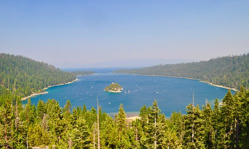 View of Emerald Bay from Eagle Falls Trail