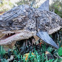 Chompers the shark, one of over 60 Washed Ashore sculptures