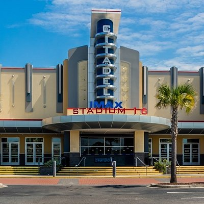 16 stadium theaters. Offering films in IMAX