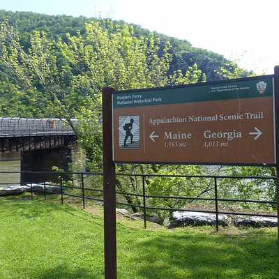 Appalachian Trail signage at The Point