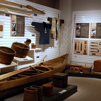 2階には国の重要有形民俗文化財に指定された道具類が展示されています。