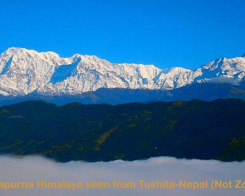 Annapurna I & Virgin Mt. Fishtail  seen from Tushita-Nepal