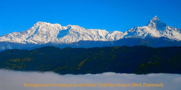 Annapurna I & Virgin Mt. Fishtail  seen from Tushita-Nepal