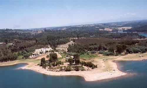 Vista área Praia Fluvial da Senhora da Ribeira