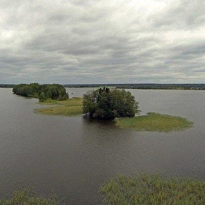 Aerial photo of Köyliön Kirkkokari