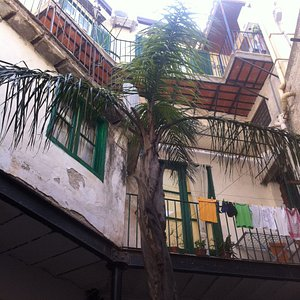 the small cosy courtyard view