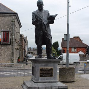 Michael Hogan Statue, Limerick, Ireland, July 2016