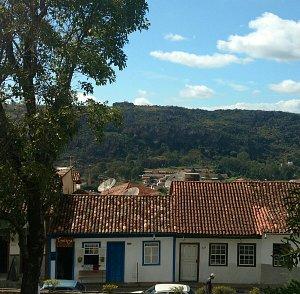 Treliça,  vista do Hotel Tijuco.