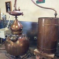 Part of the distilling gear.