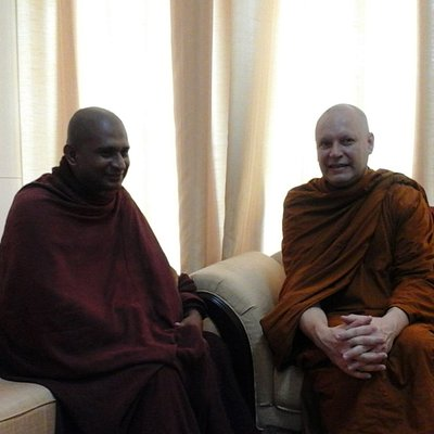 With Ajahn Brahmali in BMICH during his visit