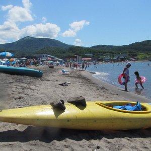 Shioya Beach - sand and shallow waters.