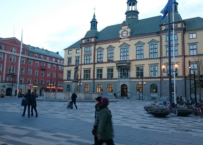 One of the buildings at the Fristadstorget