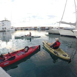 Pantalan privado para salir al mar.