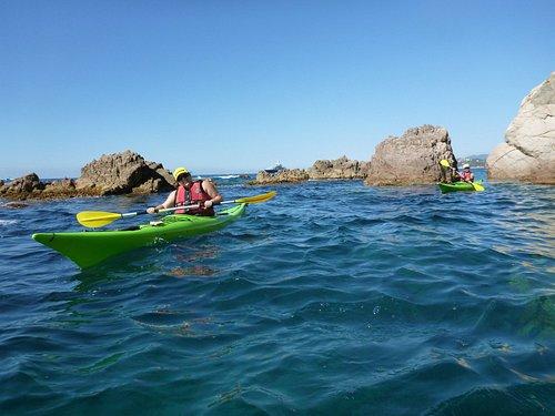 Disfrutando del kayak !