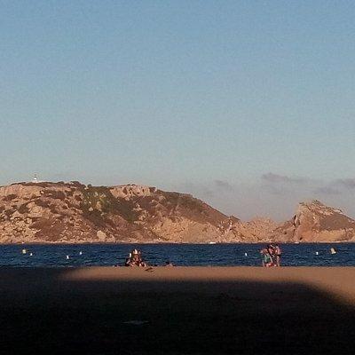 Vista de las Islas Medes desde la Playa