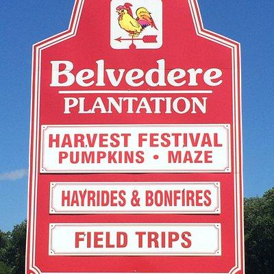 Belvedere's Roadside Sign