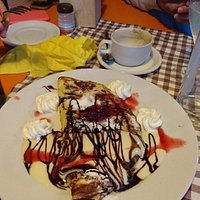 Home made Crepe - typical of the quality of food and presentation !