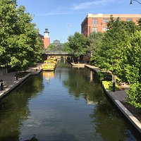 Water canal at Bricktown.