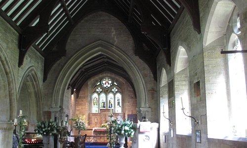St Mary's Lower Slaughter inside