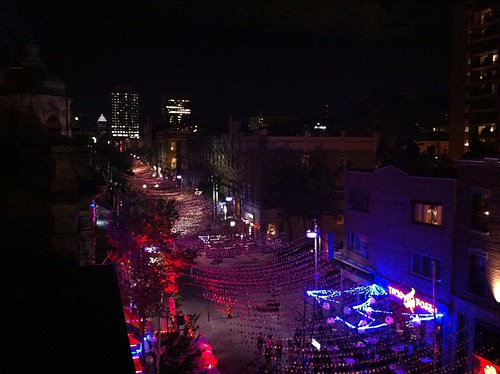 View from rooftop bar