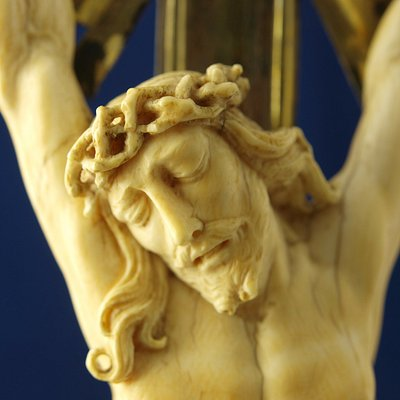 Detail of an 18th century ivory cross