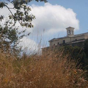 Il santuario visto da Gisola