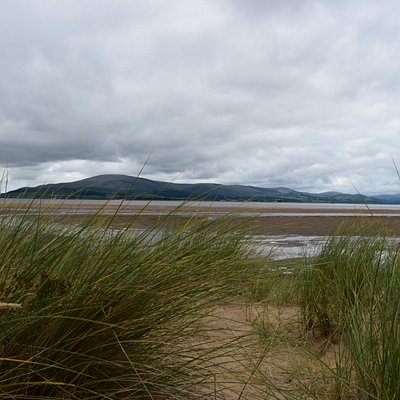 View from the dunes over the estuary to Black Combe