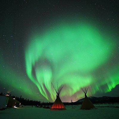 Aurora Swirls above the AuroraCentre
