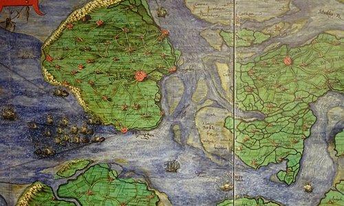 Zeeuws archief;oude landkaart