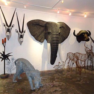 """Beaded Safari """"trophies"""""""