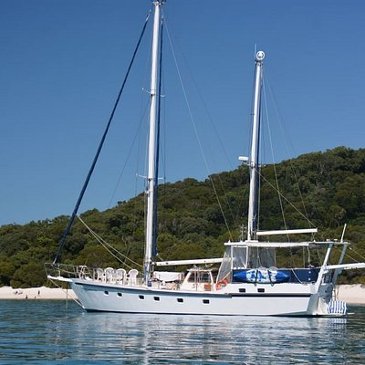 Anchored at Whitehaven Beach