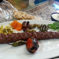 Lamb kebab with yoghurt