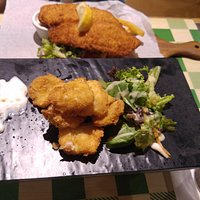 Fish and Chips with Fried Calamari for appetiser