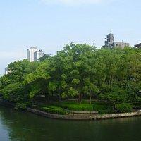 川沿いの公園
