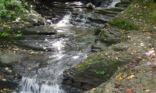 Pipestem Falls, just outside the park