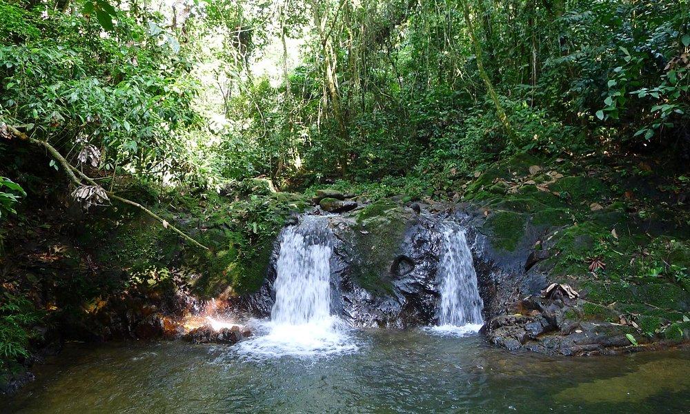 Waterfalls nearby the stone of Cumpanama