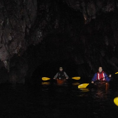 Exploring the Pembrokeshire coast in a sea kayak