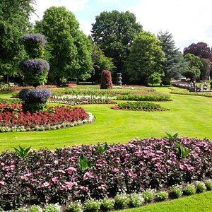 Flowerbeds in Jephson Gardens