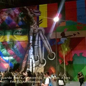 Painel ETNIAS de Eduardo Kobra, Rio de Janeiro - RJ - Foto : Cida Werneck