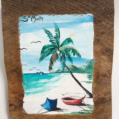 Peinture sur fibre de cocotier