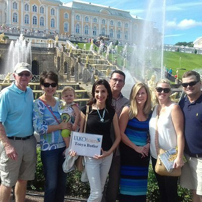 Tonya Butler party in Peterhof