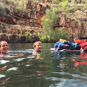 Exploring a remote Kimberley Gorge